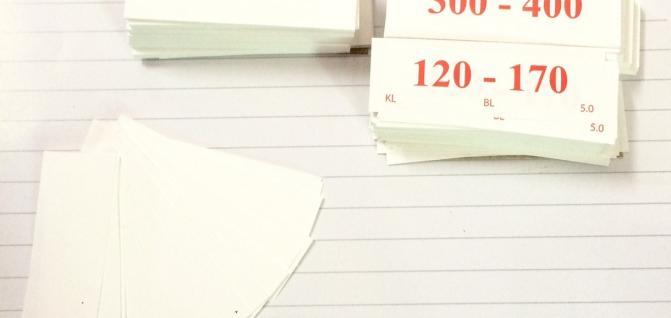 In thẻ cỡ chống thấm bằng giấy chống thấm thủy hải sản
