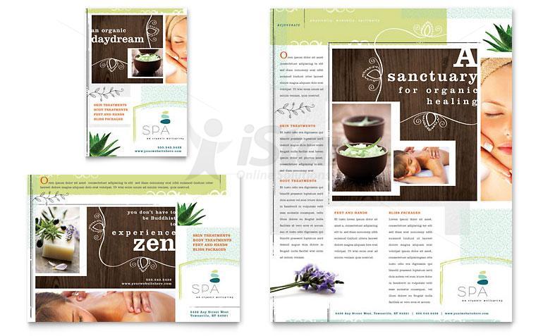 Thiết kế in brochure thẩm mỹ viện - spa